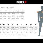 Guía de tamaño, hombre, Mello's