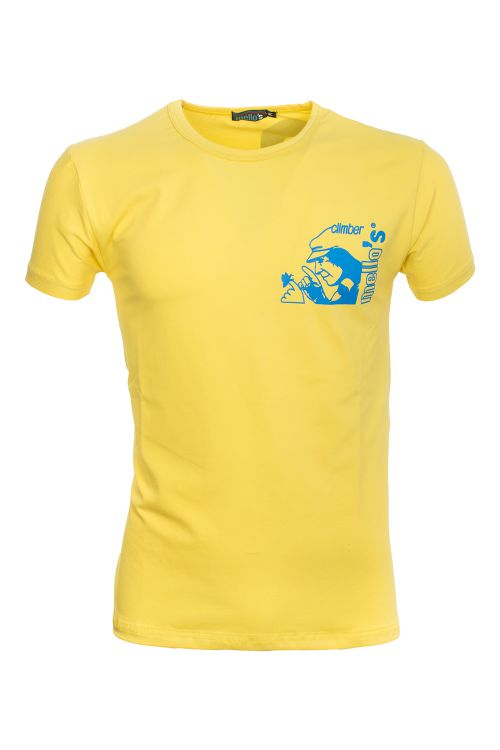 T-shirt in cotone elasticizzato Cresciano