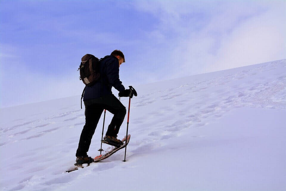 Uphill snowshoes